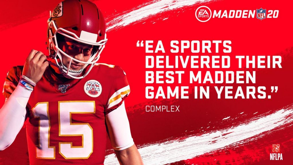 EA launched EA SPORTS Madden NFL 20 worldwide on Xbox One, PlayStation 4 and Origin for PC